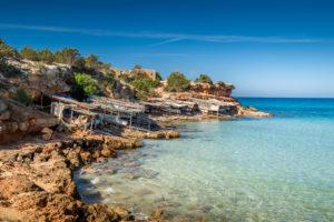 Cala Saona bay beach. Formentera island. Balearic islands, Spain.